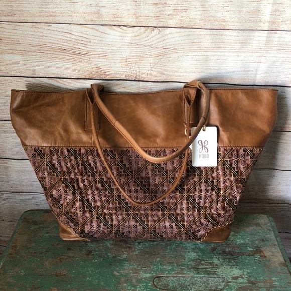 73b53dd208 HOBO International Lantana Title Weave Tote Bag